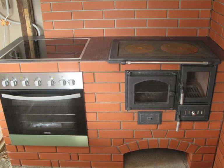 Кухонная печь из кирпича своими руками 80