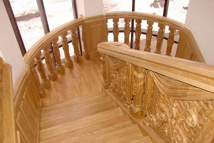 Лестница для дачи из дерева Сергиев Посад цена под ключ