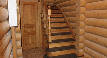 Лестница для дачи из дерева цена под ключ