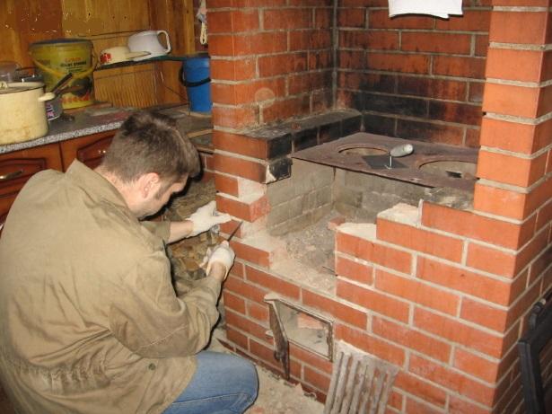 ремонт печи и дымохода