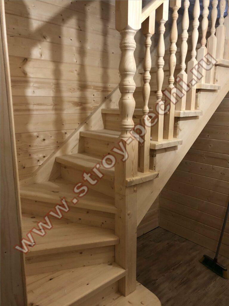 лестница для дачи из дерева мытищи