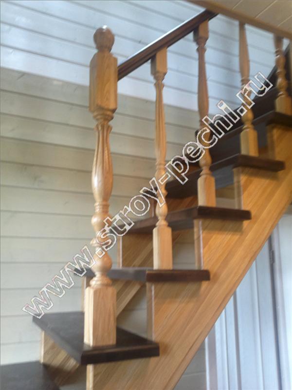 изготовим лестницы из массива дерева на второй этаж