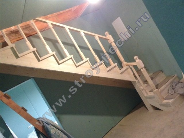 проект лестница из дерева на второй этаж